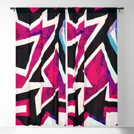 Psychedelic Abstract Colorful Urban Skate Graffiti Blackout Curtain
