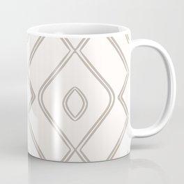 Modern Boho Ogee in Cream Coffee Mug