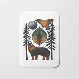 The Bear and the Barn Owl Bath Mat