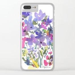 Little Fairy Field Flowers Clear iPhone Case
