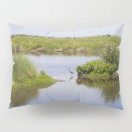 Peaceful Simplicity - Heron Bird in Bayou Pillow Sham