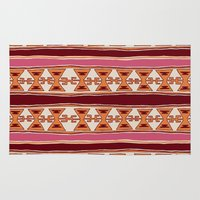 cleveland Area & Throw Rugs featuring Cleveland by Little Brave Heart Shop