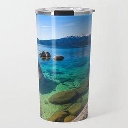Let's Jump In At Sand Harbor, Lake Tahoe Travel Mug
