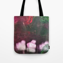 What's In The Forest? Forest, Abstract, Painting, Jodilynpaintings. Red, Green. Tote Bag
