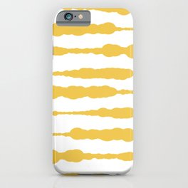 Macrame Stripes in Mustard Yellow and White iPhone Case