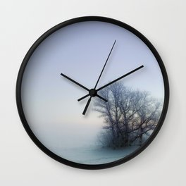 One Foggy Morning Wall Clock