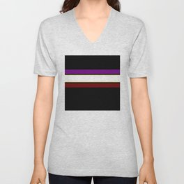 Team colors 2...red,purple.yellow gold Unisex V-Neck