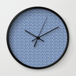 Blue Leaves Larkspur 5 Print Wall Clock