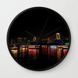 Rainbow Bridge (Odaiba) Wall Clock