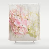 hydrangea Shower Curtains featuring Hydrangea by Vicky Lewis