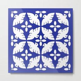 Dove Pattern 2 Metal Print