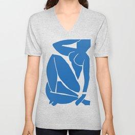 Matisse Cut Out Figure #3 Light Blue Unisex V-Neck