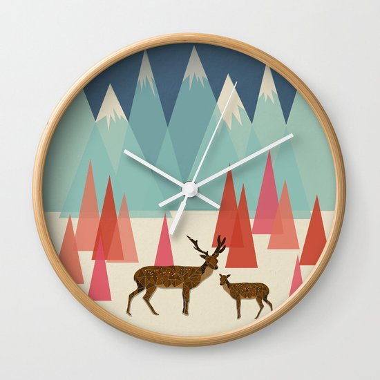 Climb Every Mountain Wall Clock