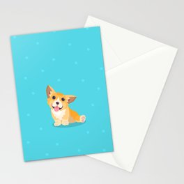 Sitting Cute Corg Stationery Cards