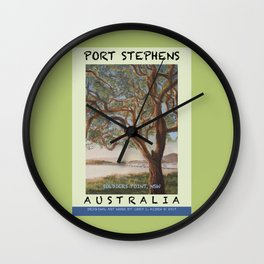Travel Poster Soldiers' Point, NSW Wall Clock