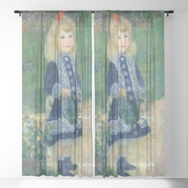 Pierre-Auguste Renoir - A Girl with a Watering Can Sheer Curtain