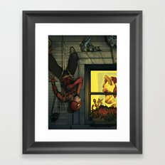 Peepin' Peter Framed Art Print