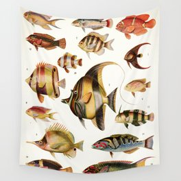 Adolphe Millot - Poissons des coraux - French vintage zoology poster Wall Tapestry