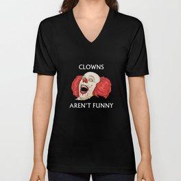 Clowns Aren't Funny Unisex V-Neck