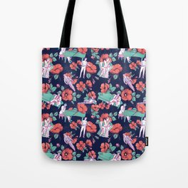 Gold-Bloom Tote Bag