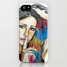 The secret of color iPhone Case