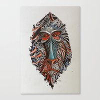 monkey Canvas Prints featuring Monkey by Condutta