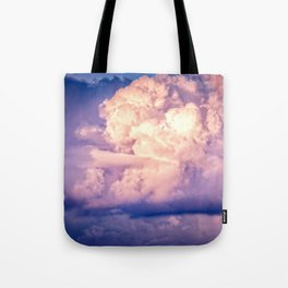 Stormy Cumulus Clouds Illuminated By The Setting Sun Tote Bag