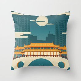 Anshun Bridge, Chengdu, Sichuan, China Throw Pillow