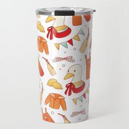 Breathless Duckie Orange Travel Mug