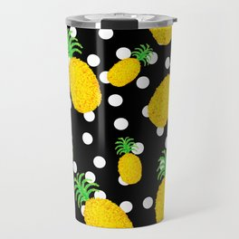 Dotty Pineapple Travel Mug