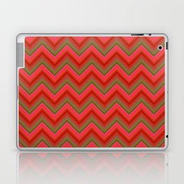 Red retro chevron Laptop & iPad Skin