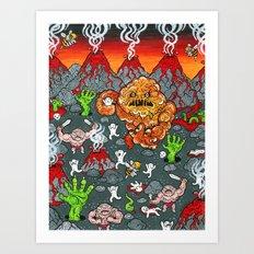 Volcano Lands Art Print