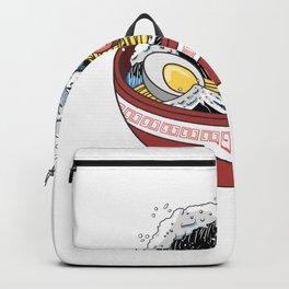 Japanese Ocean Ramen Wave Noodle Kawaii Gift Backpack