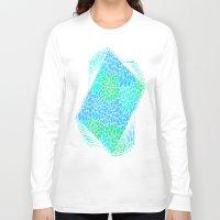 green pattern Long Sleeve T-shirts featuring Blue & Green Pattern by Aloke Design