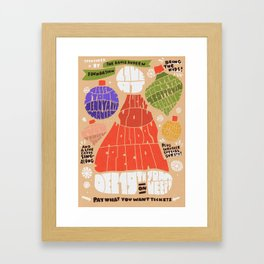 Christmas show Framed Art Print