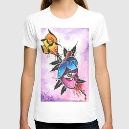 rose arrow heart T-shirt