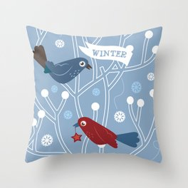 4 Seasons - Winter Throw Pillow