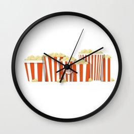 Movies and Popcorn Wall Clock