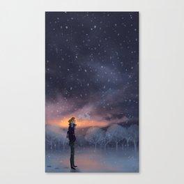 Ten Thousand Snowflakes Canvas Print