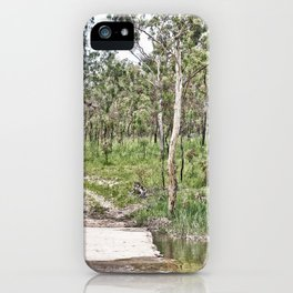 Rustic water crossing iPhone Case