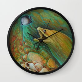 Naive Butterfly Wall Clock