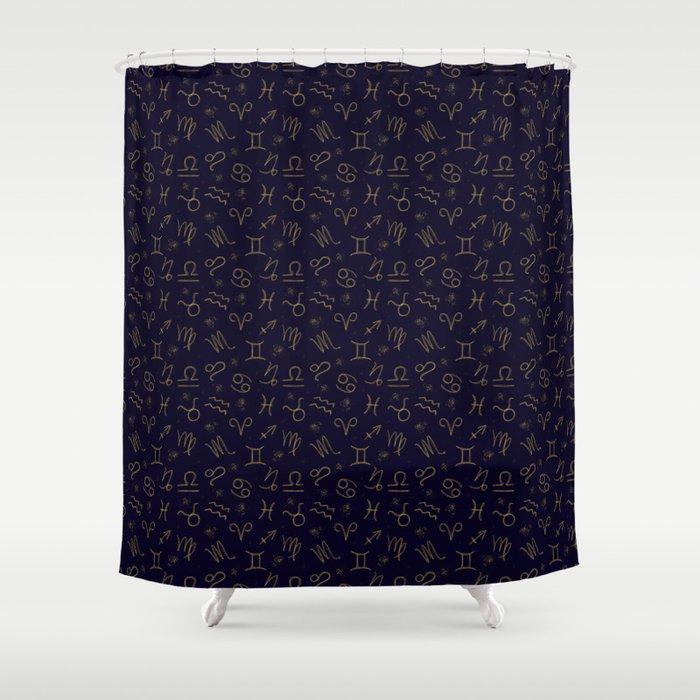 Zodiac Shower Curtain By Julianamotzko
