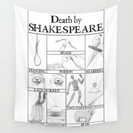 Death by Shakespeare Wall Tapestry
