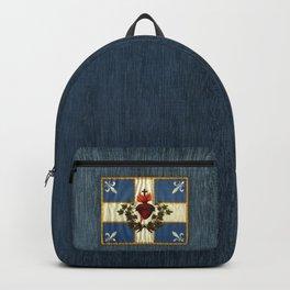 Quebec flag drapeau Carillon Sacré-Cœur Christian Catholic Backpack