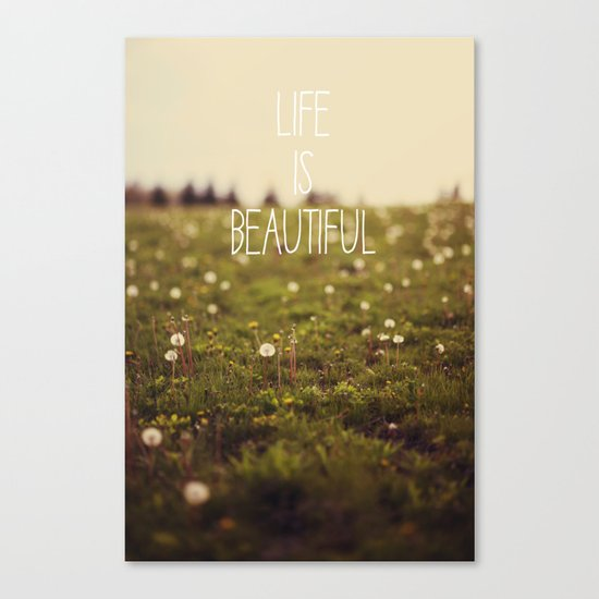 Life is Beautiful (Dandelion) Canvas Print