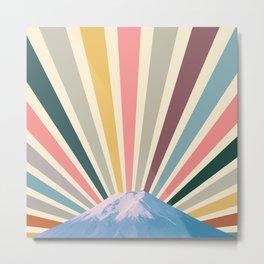 Fuji sun retro Metal Print