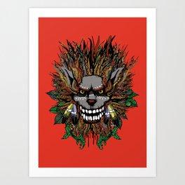 Big Chief Wolfenfreak  Art Print