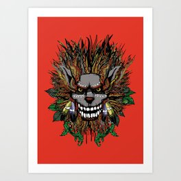 Big Chief Wolfenfreak  Art Print