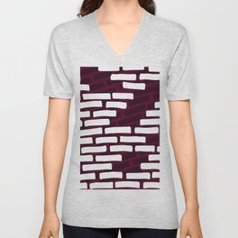 Bricks wall Unisex V-Neck