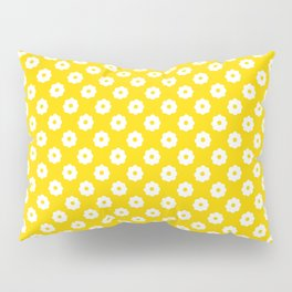 60s Ditsy Daisy Floral in Sunshine Yellow Pillow Sham